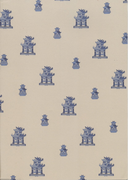 A4 Willow Pattern - Pagodas